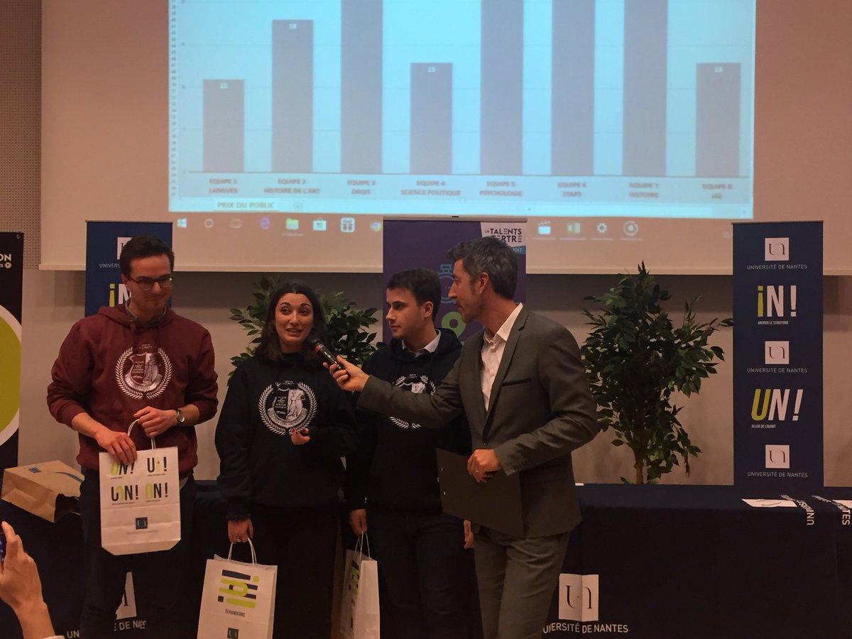 L'équipe lauréate de l'édition 2017